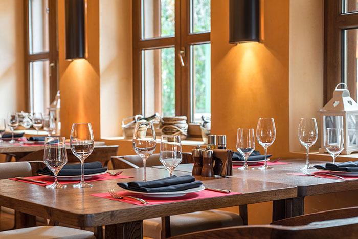 Photographie de l'intérieur d'un restaurant