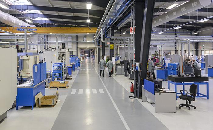 Intérieur d'un centre de production industrielle